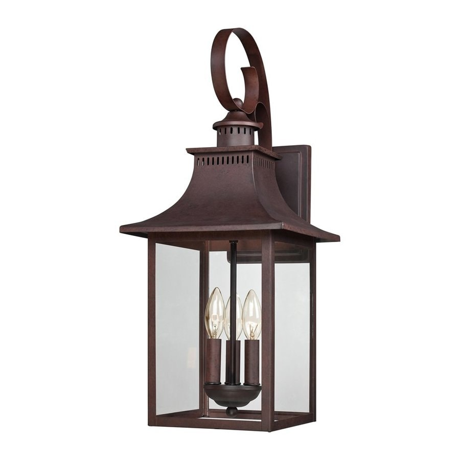 Copper Garden Wall Lights : Shop Quoizel Chancellor 23.5-in H Copper Bronze Outdoor Wall Light at Lowes.com