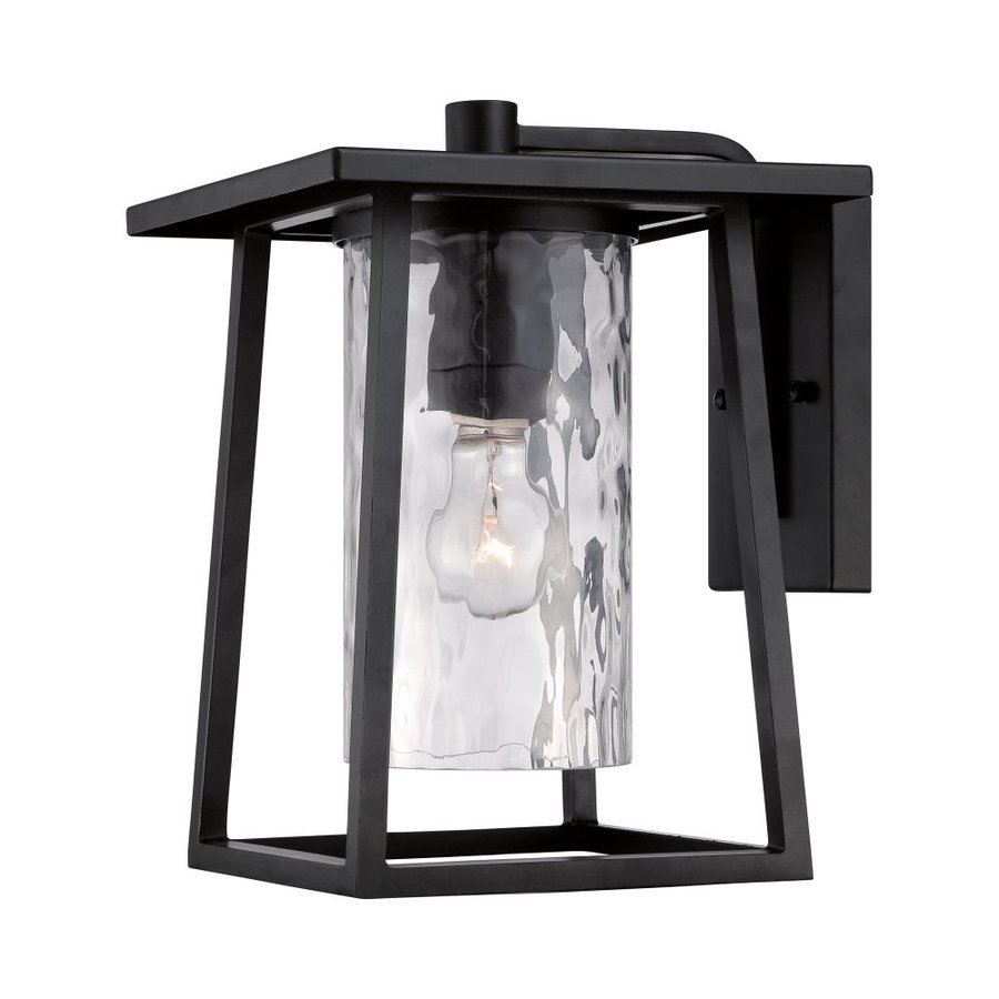 Quoizel Lodge 12.5-in H Mystic Black Outdoor Wall Light