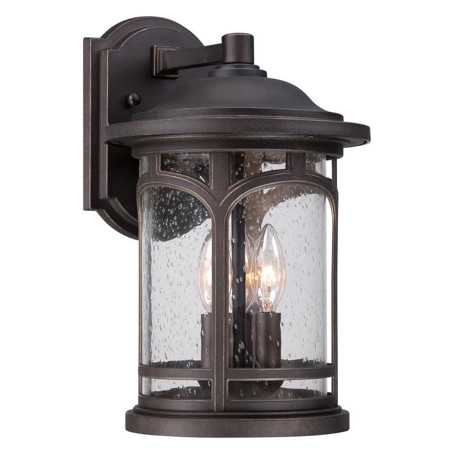 Quoizel Marblehead 14.5-in H Palladian Bronze Candelabra Base (E-12) Outdoor Wall Light