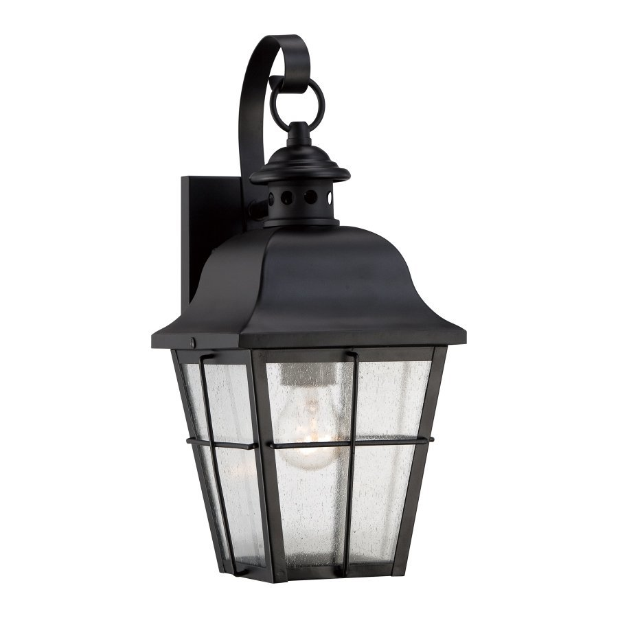 Quoizel Millhouse 15.5-in H Mystic Black Medium Base (E26) Outdoor Wall Light
