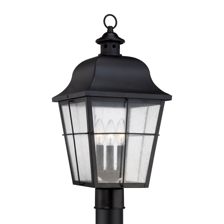 Quoizel Millhouse 21.5-in H Mystic Black Post Light