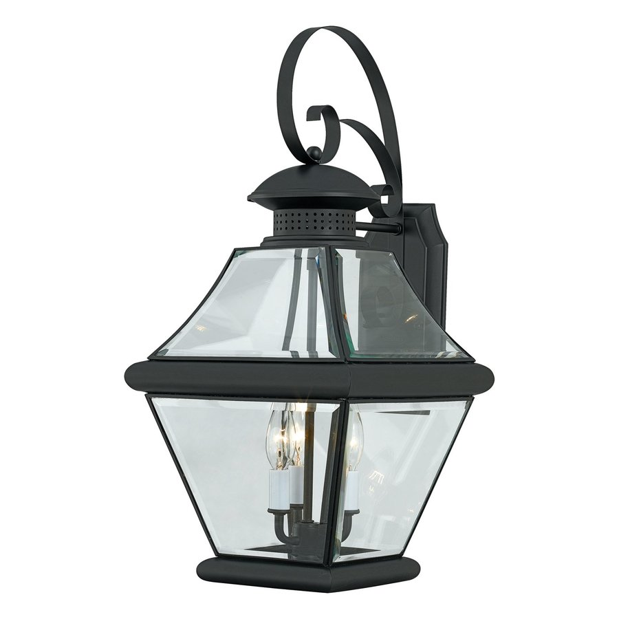 Quoizel Rutledge 24-in H Mystic Black Outdoor Wall Light