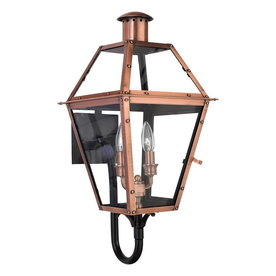 Quoizel Charleston 23.5-in H Aged Copper Outdoor Wall Light