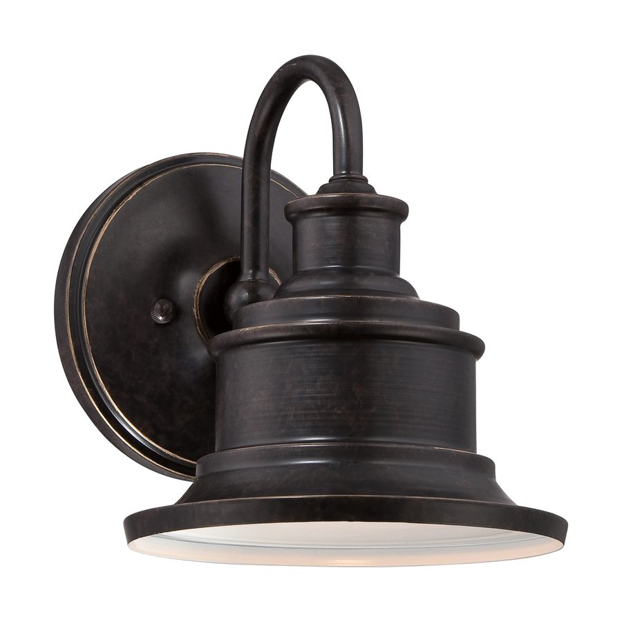 Quoizel Seaford 8-in H Imperial Bronze Medium Base (E26) Outdoor Wall Light