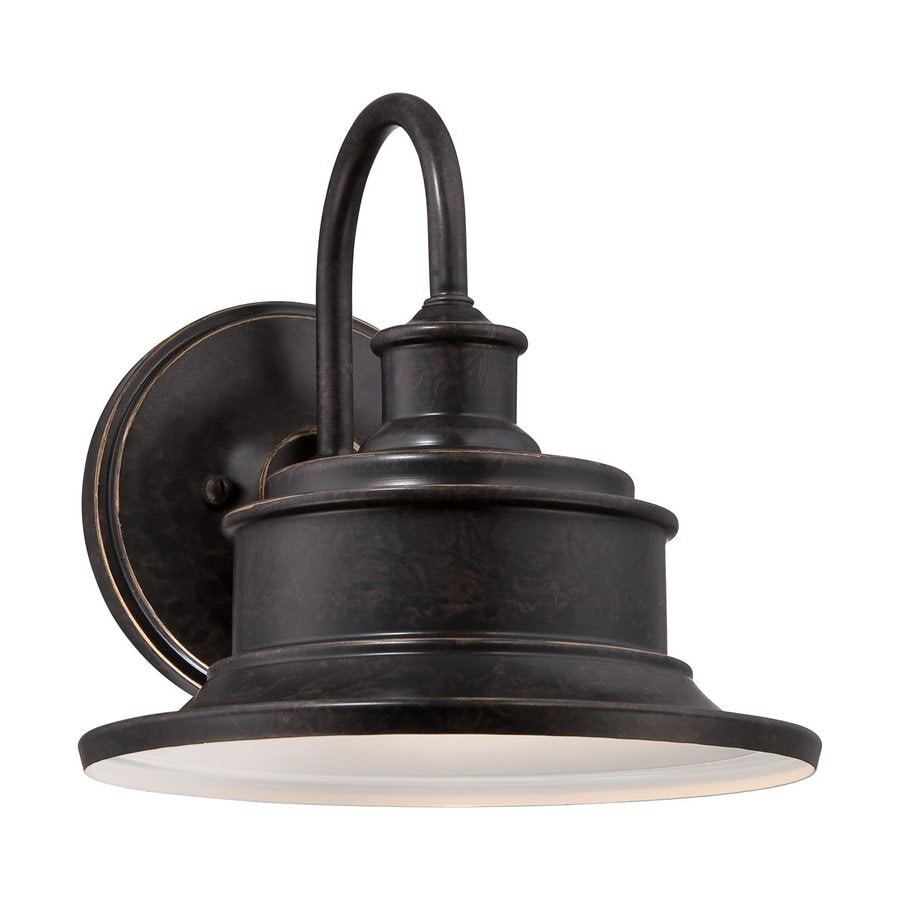 Quoizel Seaford 11-in H Imperial Bronze Medium Base (E26) Outdoor Wall Light