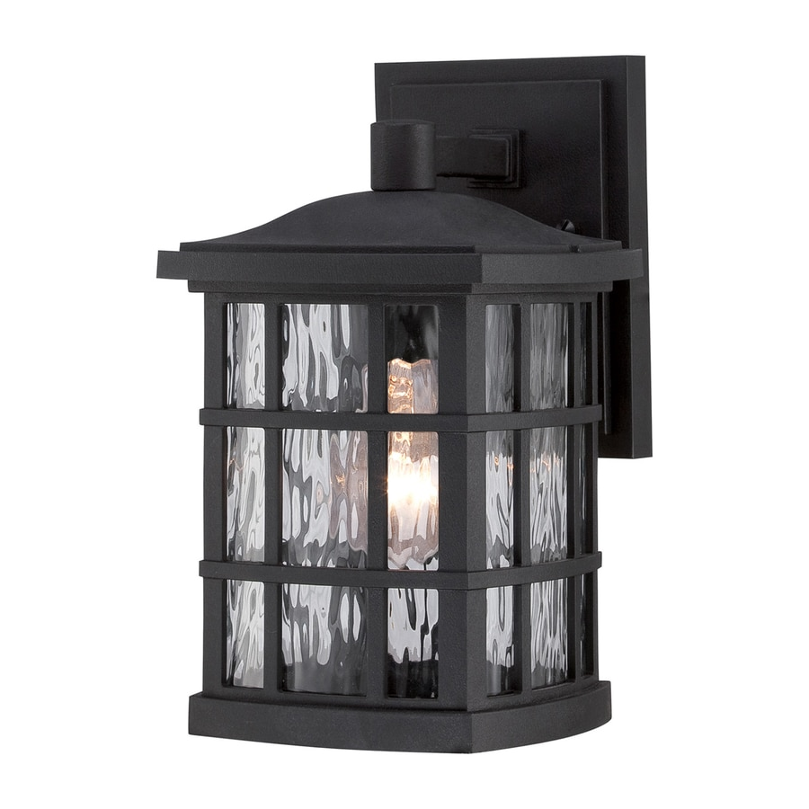 Quoizel Stonington 10.5-in H Mystic Black Medium Base (E26) Outdoor Wall Light