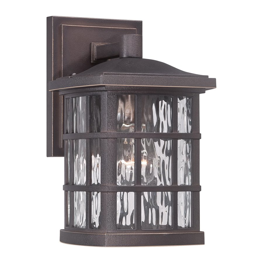 Quoizel Stonington 10.5-in H Palladian Bronze Medium Base (E26) Outdoor Wall Light