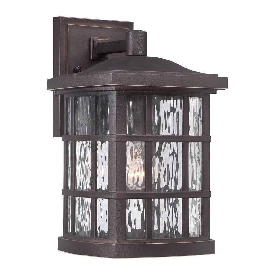 Quoizel Stonington 13-in H Palladian Bronze Outdoor Wall Light