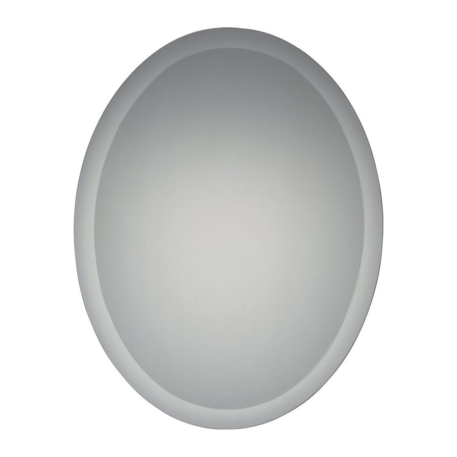 Quoizel Reflections 22-in x 28-in Beveled Oval Frameless Contemporary Wall Mirror