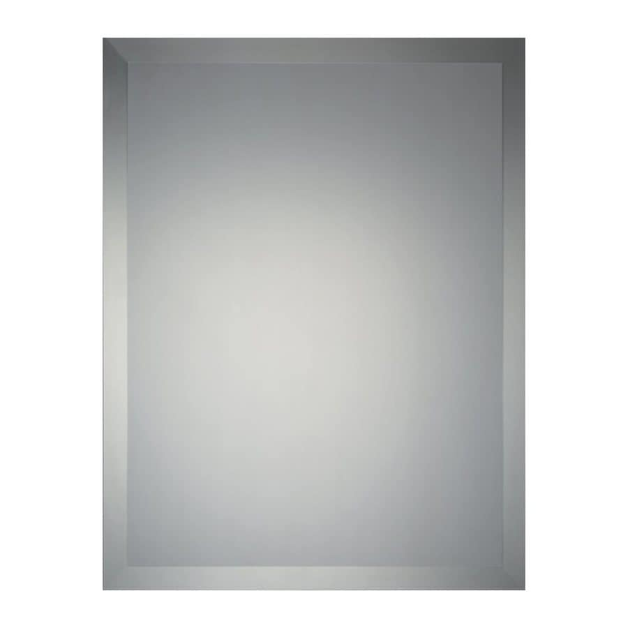 Quoizel Reflections 22-in x 28-in Beveled Rectangle Frameless Contemporary Wall Mirror