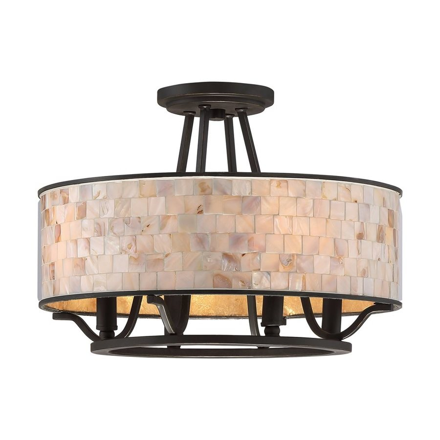 Quoizel Aristocrat 15.75-in W Palladian Bronze Shell Semi-Flush Mount Light