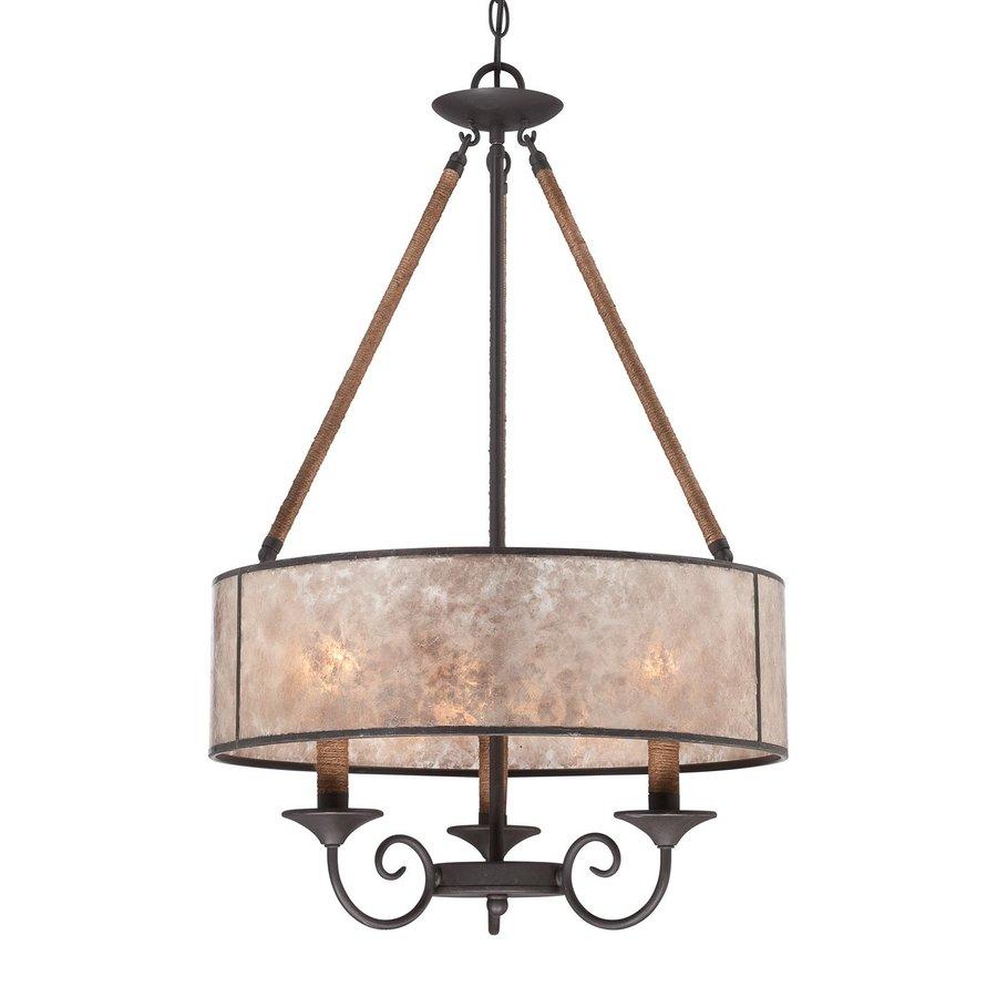 Shop Quoizel Bandelier 20-in 3-Light Imperial Bronze Drum ...