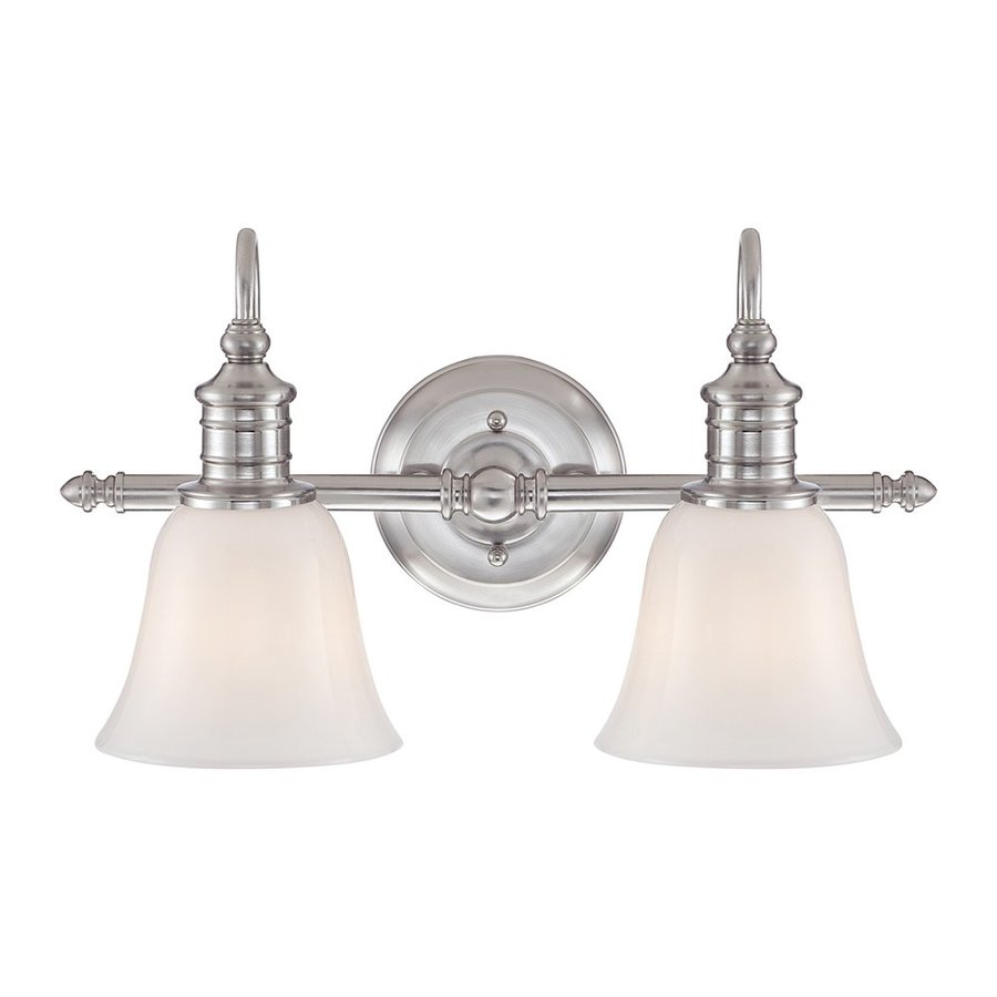 Quoizel Broadgate 2-Light Brushed Nickel Bell Vanity Light Bar