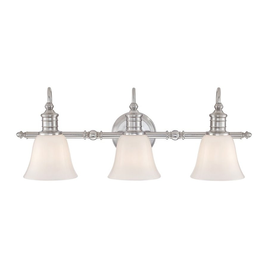 Quoizel Broadgate 3-Light 10-in Brushed Nickel Bell Vanity Light Bar