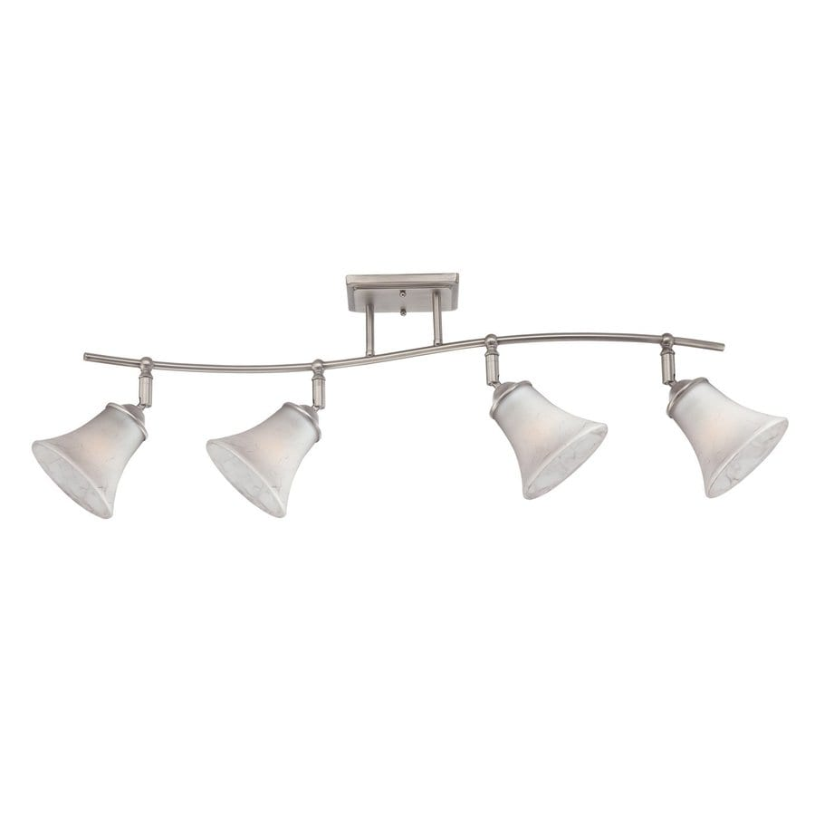 Quoizel Duchess 4-Light 36.5-in Antique Nickel Dimmable Fixed Track Light Kit