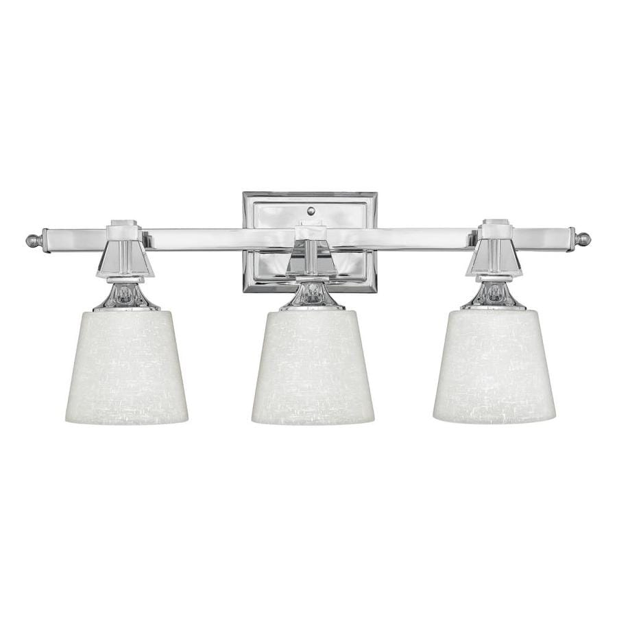 Vanity Light Bar Target : Shop Quoizel Deluxe 3-Light 10-in Polished Chrome Bell Vanity Light Bar at Lowes.com