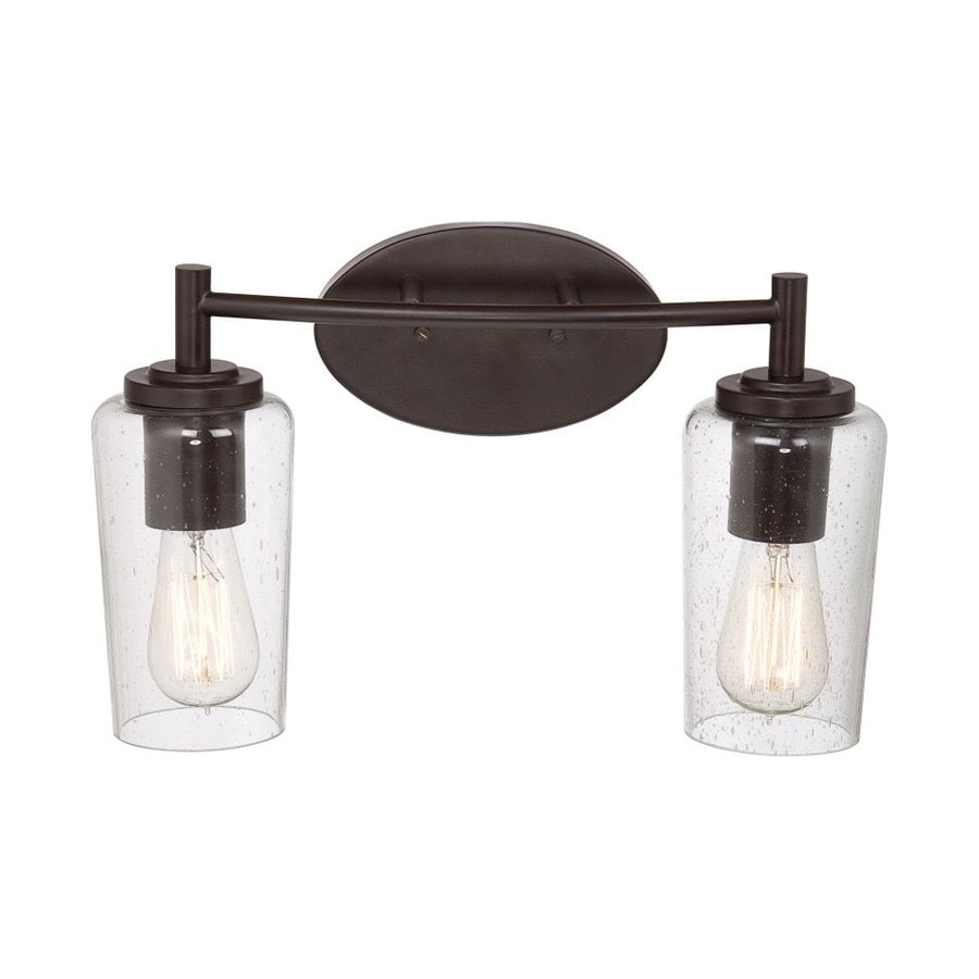 Quoizel Edison 2-Light 10-in Western bronze Cylinder Vanity Light Bar