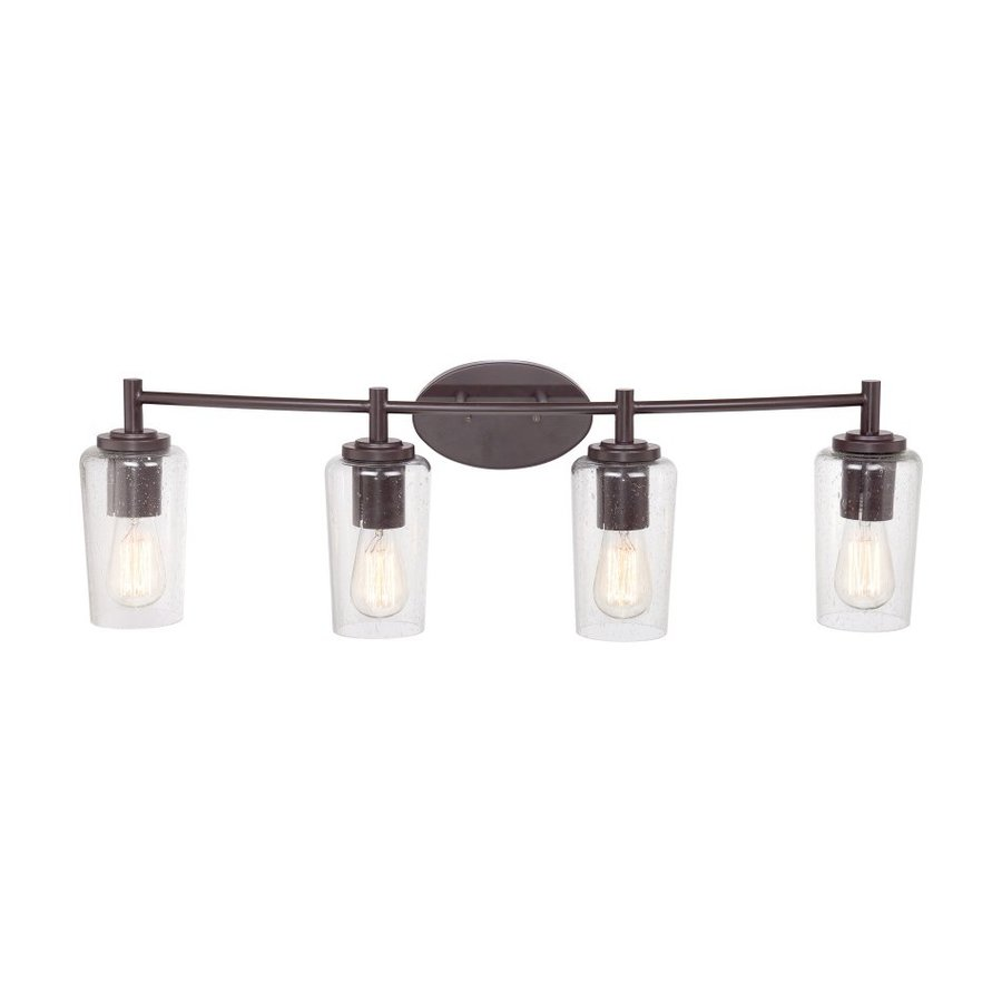 Shop Quoizel Edison 4 Light 10 In Western Bronze Cylinder