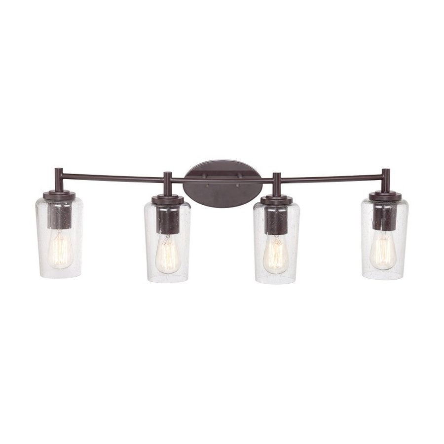 Quoizel Edison 4-Light 10-in Western Bronze Cylinder Vanity Light Bar