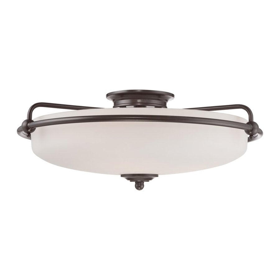 Quoizel Griffin 21-in W Palladian bronze Flush Mount Light