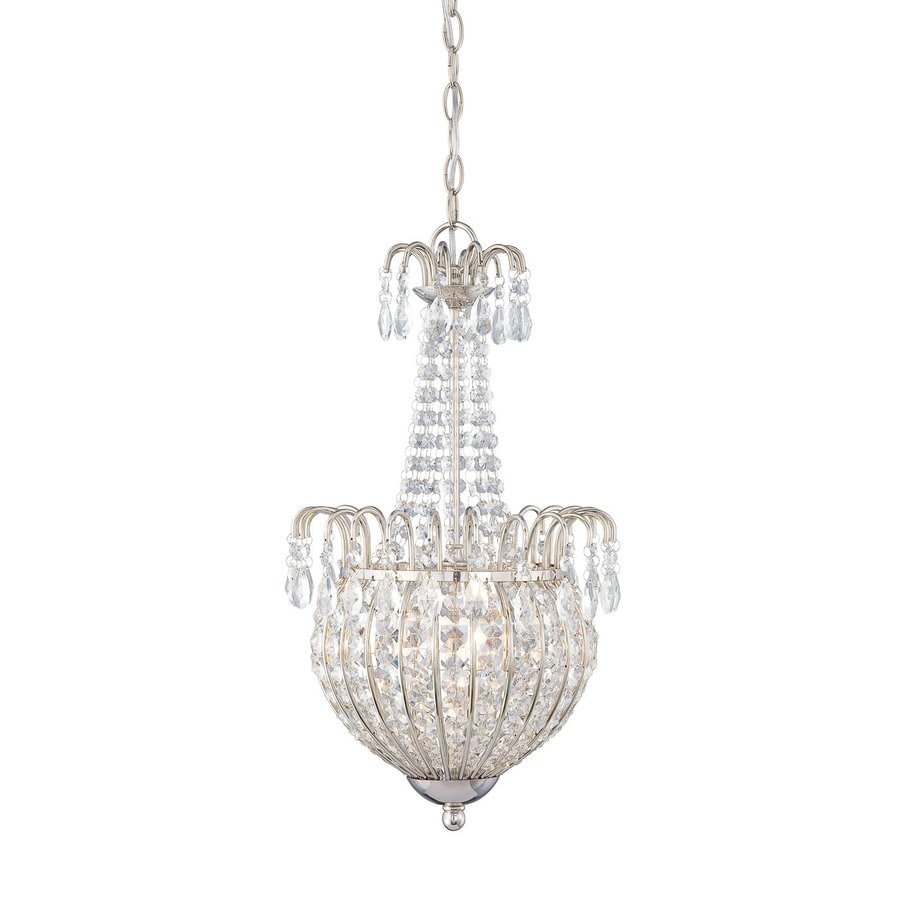Quoizel Jolene 12-in Imperial Silver Single Crystal Urn Pendant