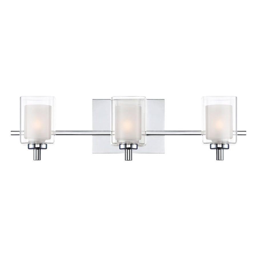 Shop quoizel kolt 3 light 21 in polished chrome cylinder for Quoizel bathroom lighting