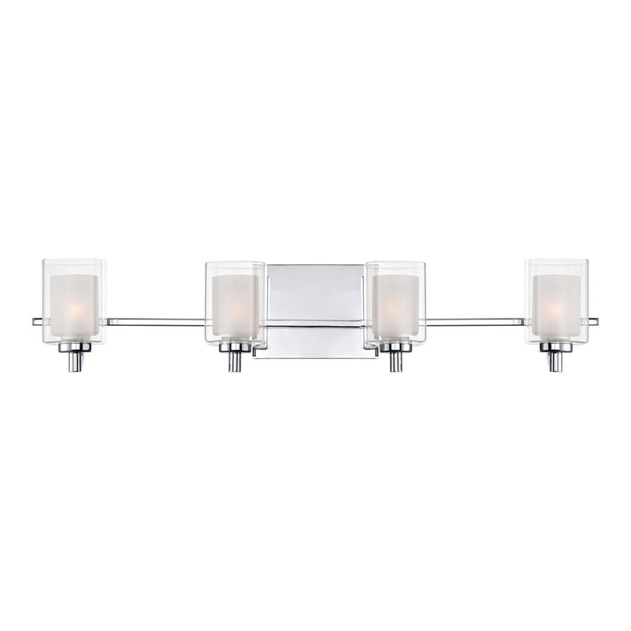 Quoizel Kolt 4-Light 6-in Polished Chrome Cylinder Vanity Light Bar