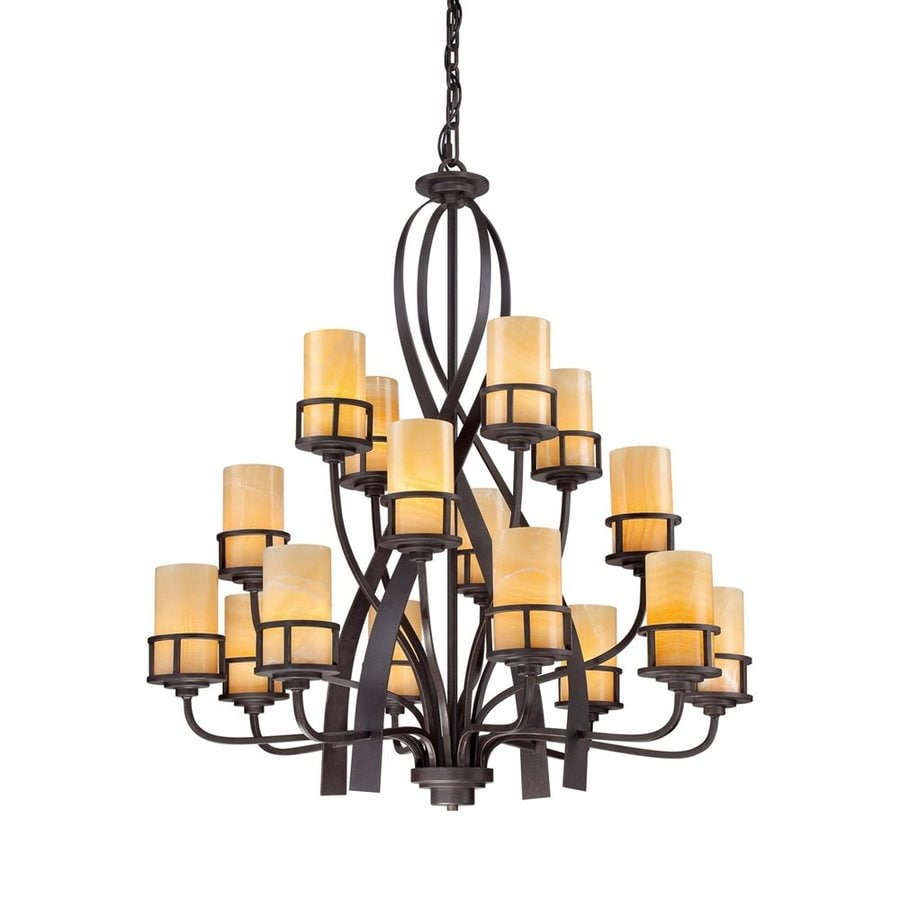 Quoizel Kyle 42-in 16-Light Imperial bronze Tiered Chandelier