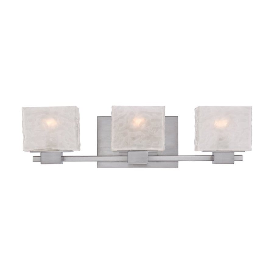 Shop Quoizel Melody 3-Light 6.5-in Brushed Nickel Square Vanity Light Bar at Lowes.com