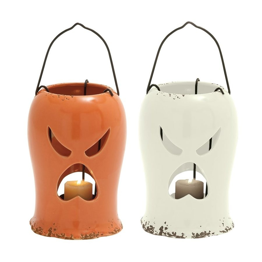 Woodland Imports Freestanding Ghost Candle Holder (Set of 2)