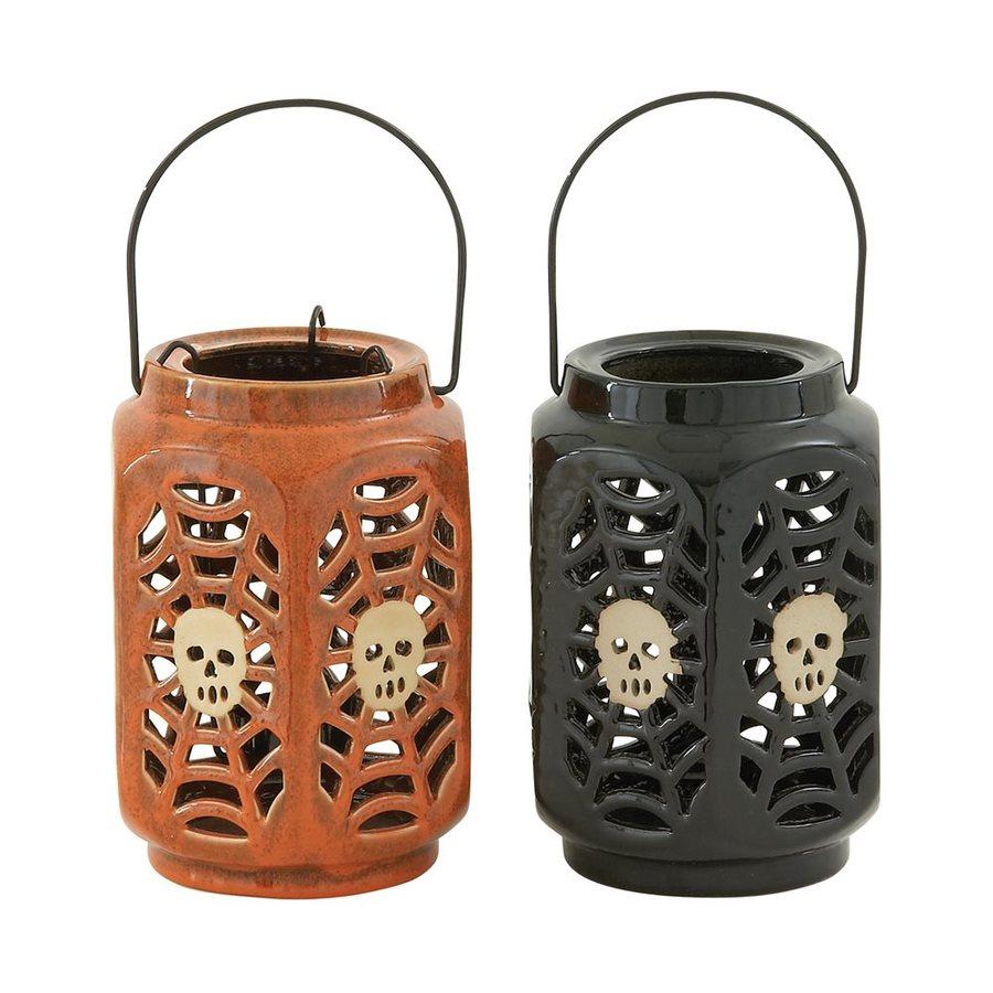 Woodland Imports Freestanding Skeleton Candle Holder (Set of 2)