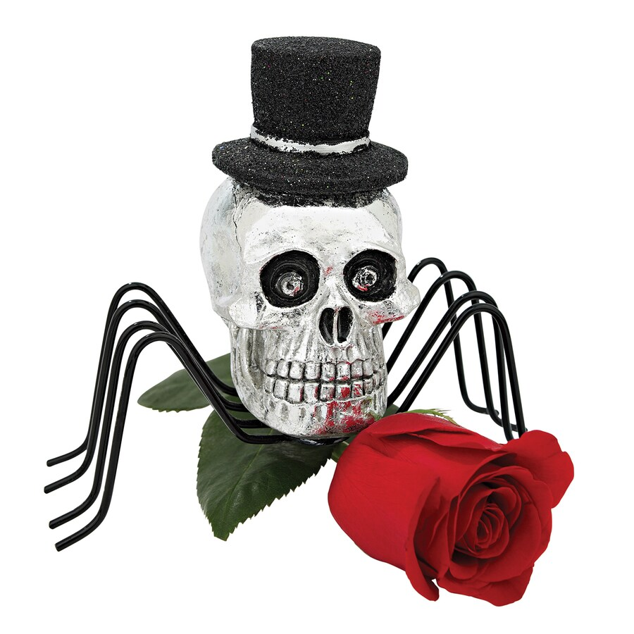 Design Toscano Black Widow Spider Skull Statue