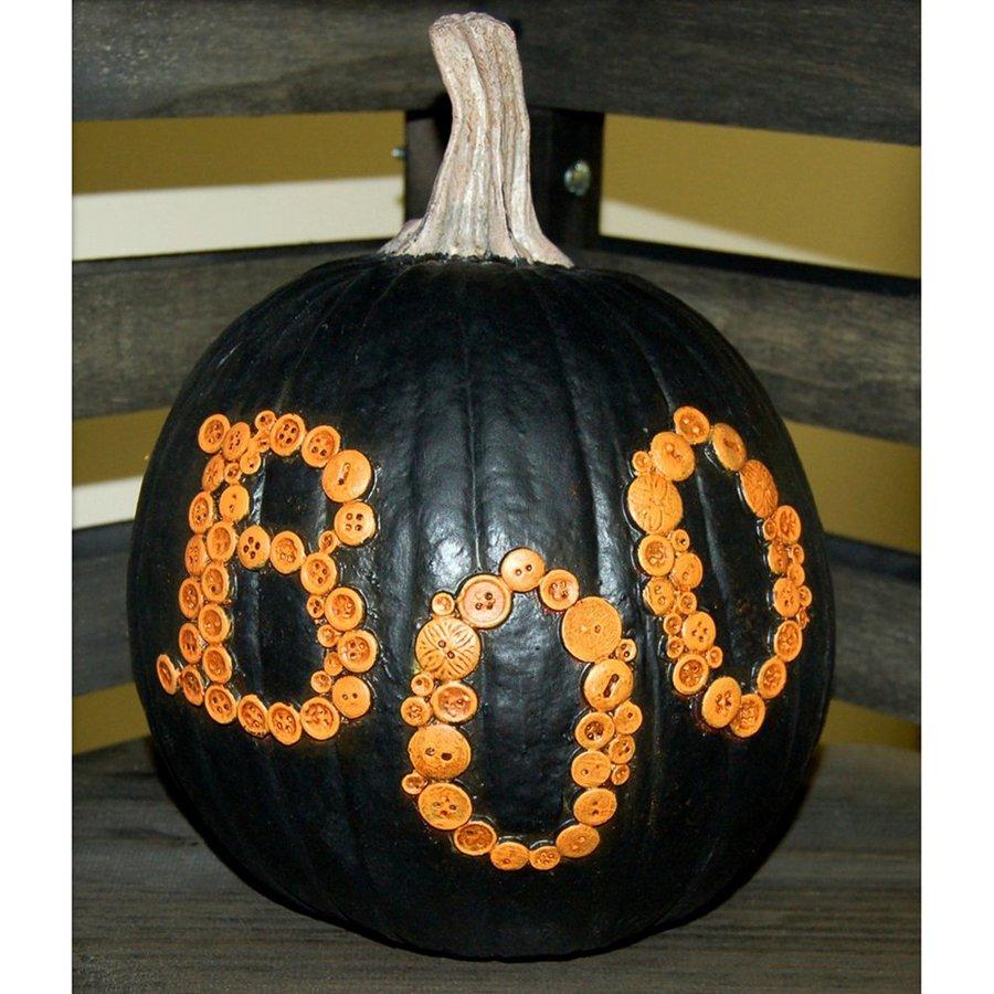 Craft-Tex The Pumpkin Patch Black Boo Pumpkin