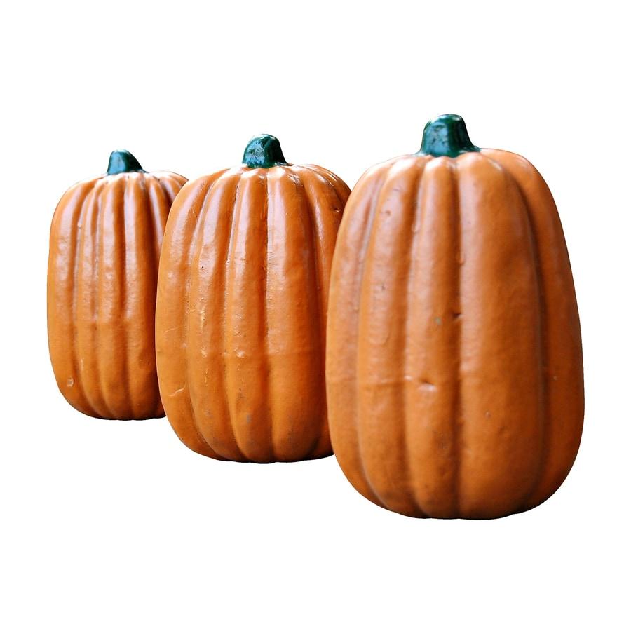 Craft-Tex Fall Harvest Set of 3 Freestanding Pumpkin Sculptures