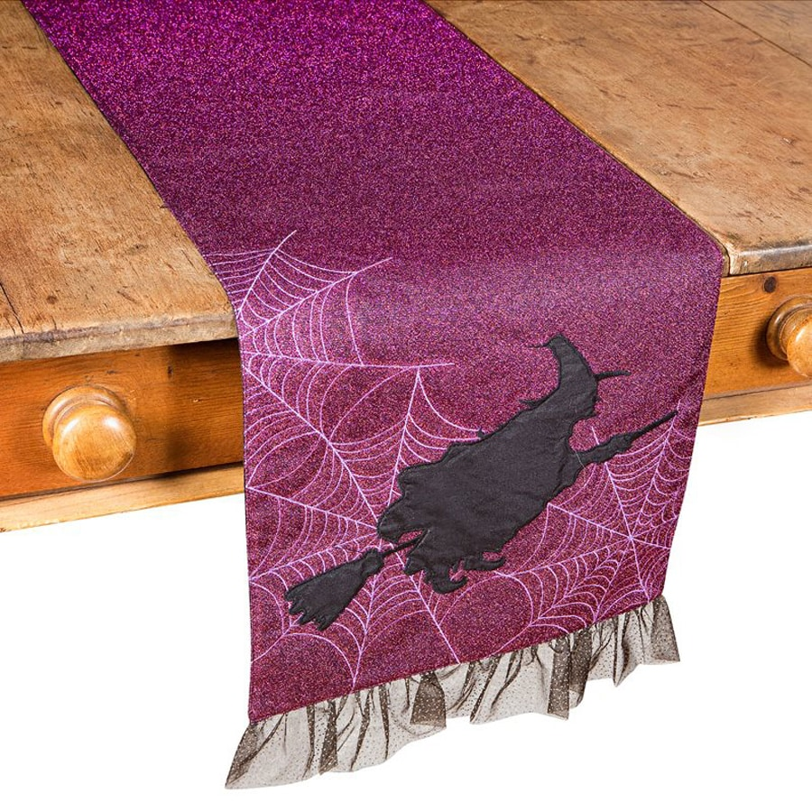 XIA Home Fashions Witching Hour Tabletop Witch Table Runner