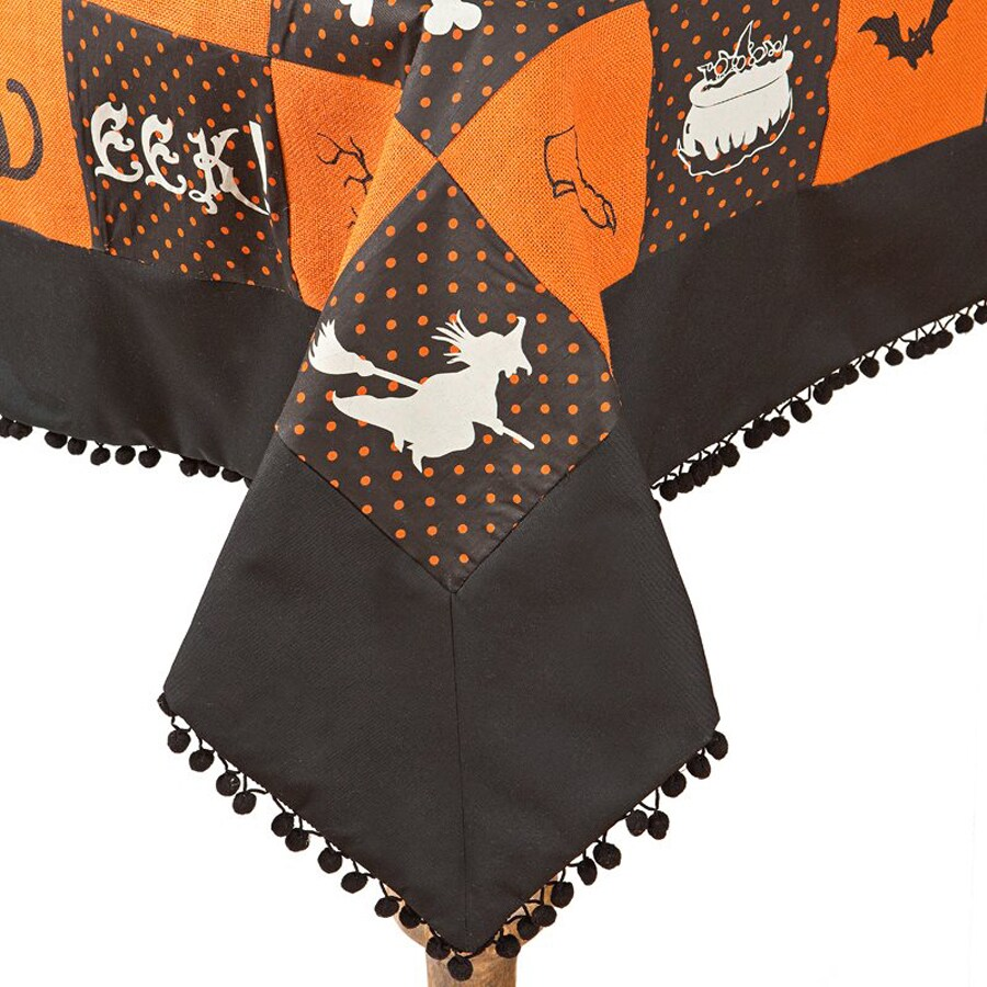 XIA Home Fashions Halloween Patchwork EEK! Various Tablecloth