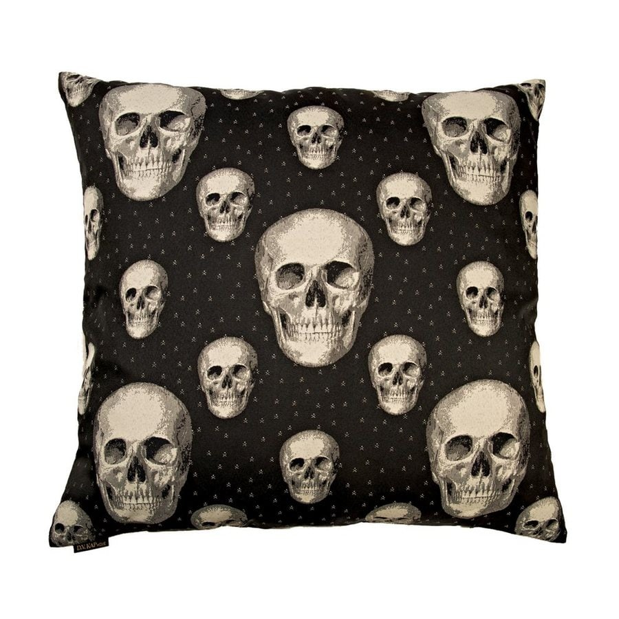 Canaan Company Skalle Black Decorative Skull Pillow