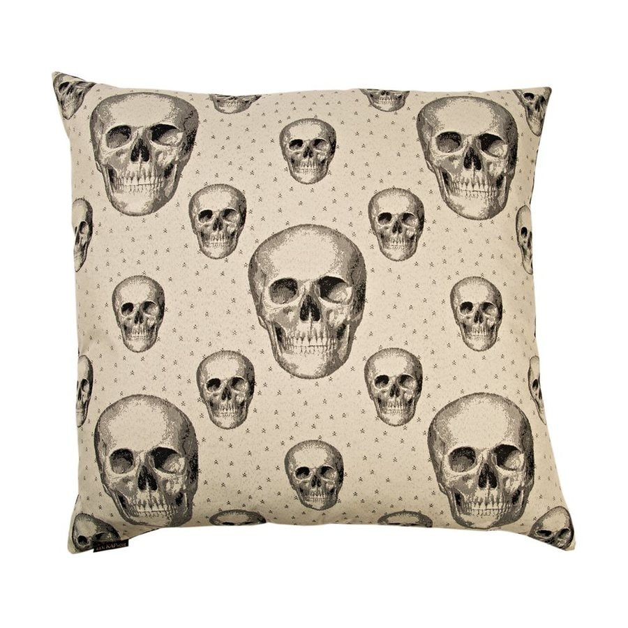 Canaan Company Skalle White Decorative Skull Pillow