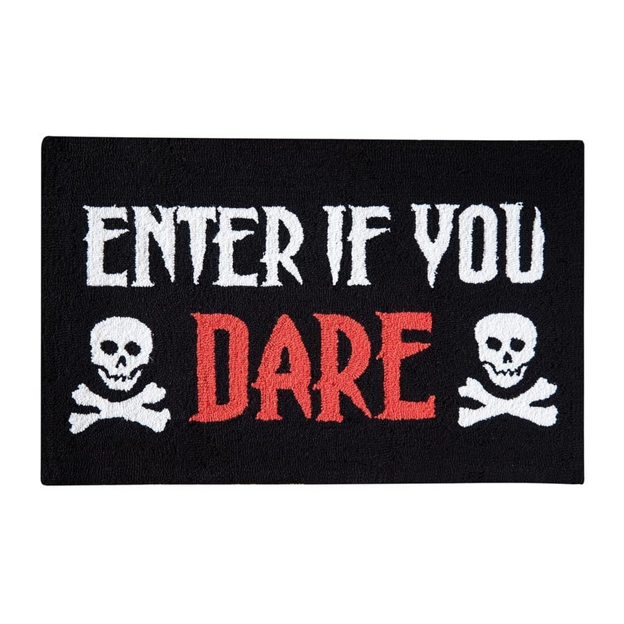 C&F Enterprises Enter If You Dare Skull Rug