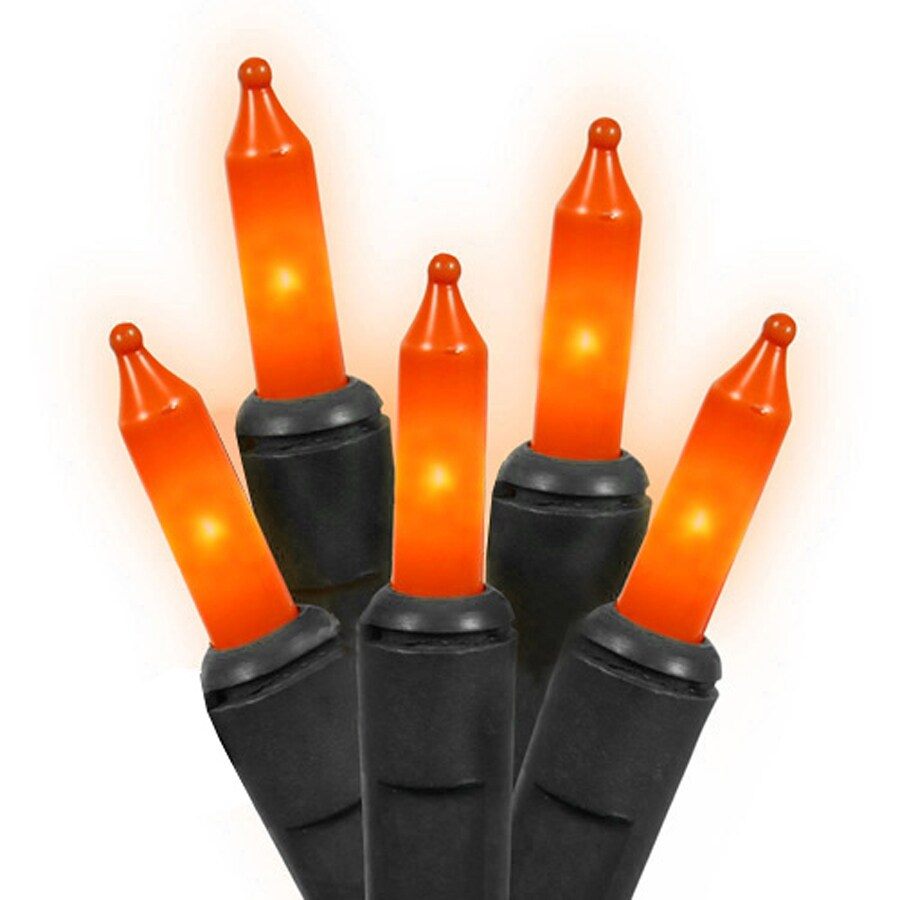 Northlight 35-Count 10.7-ft Constant Orange Mini Plug-In Halloween String Lights