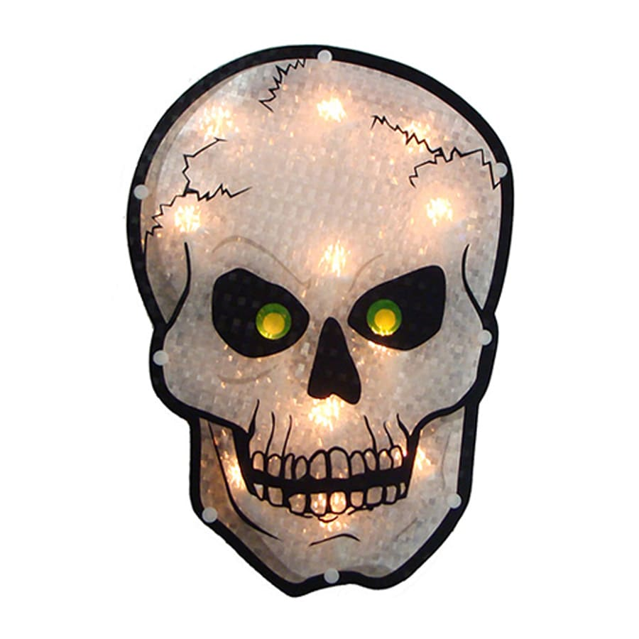 Northlight Pre-Lit Skull Novelty Light with Constant White Incandescent Lights