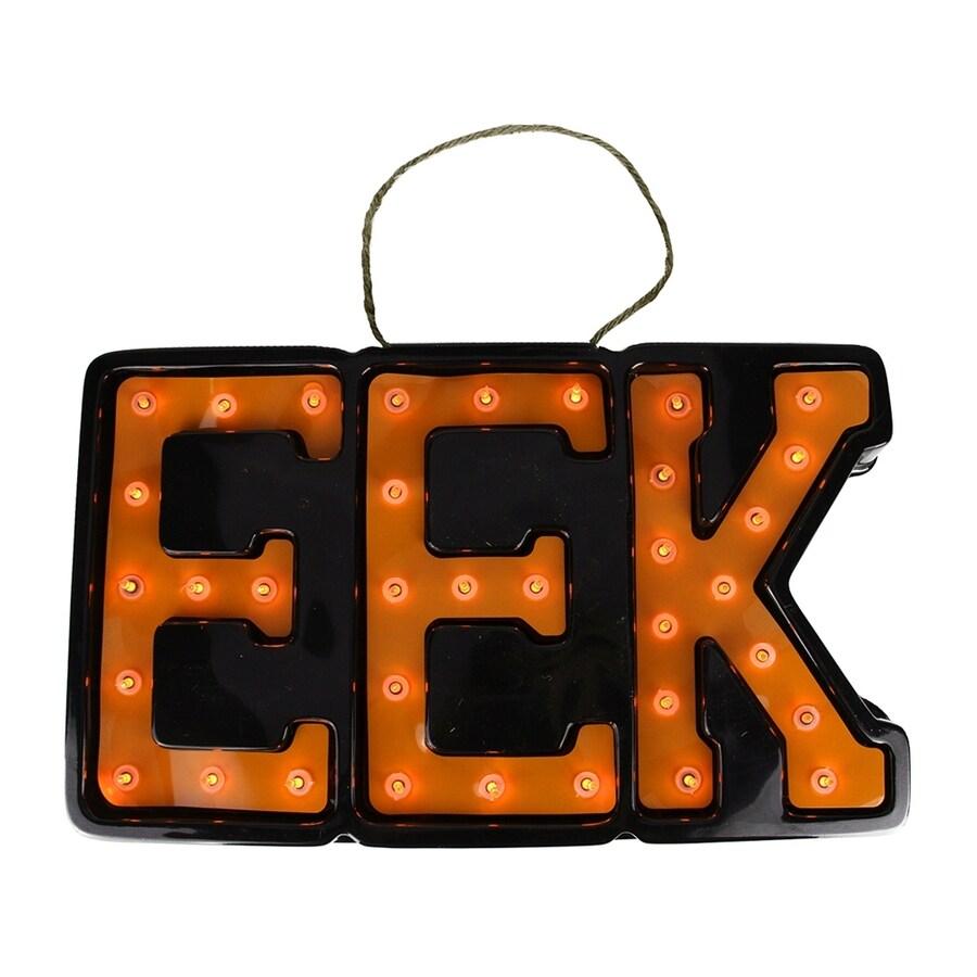 Northlight Pre-Lit EEK Hanging Novelty Light with Constant Orange Incandescent Lights