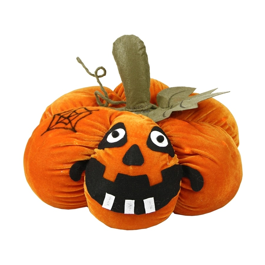 Northlight Pre-Lit Jack-O-Lantern Figurine with Multi-function White LED Lights