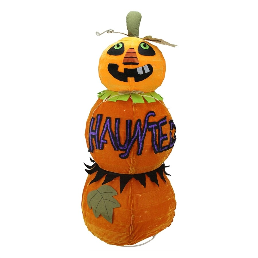 Northlight Pre-Lit Haunted Freestanding Pumpkin with Constant White Incandescent Lights