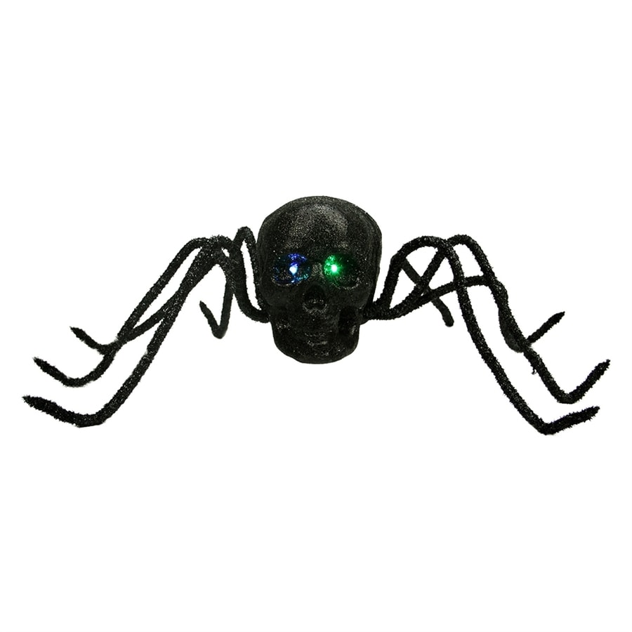Northlight Pre-Lit Tabletop Skull Spider with Flickering Color Changing LED Lights