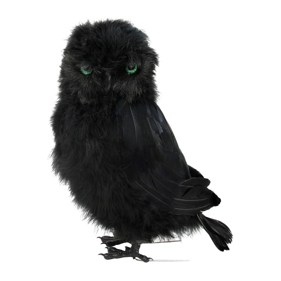 Northlight Black Fur and Feathers Tabletop Owl Figurine