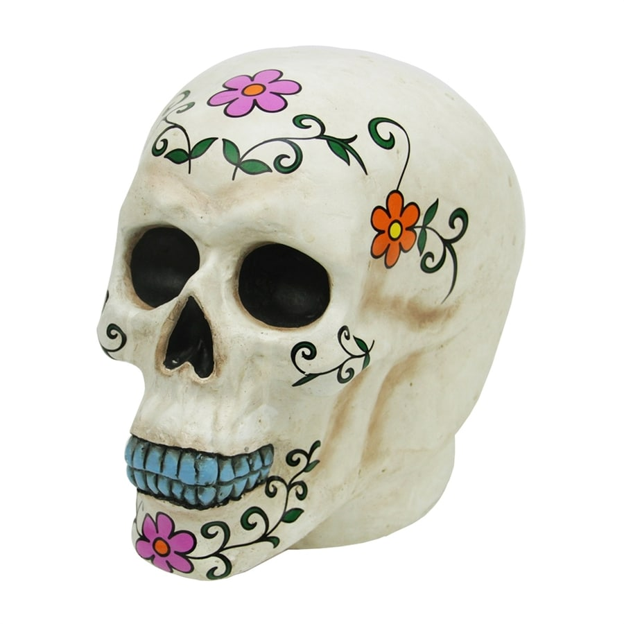 Northlight Spooky Day of the Dead Tabletop Skull