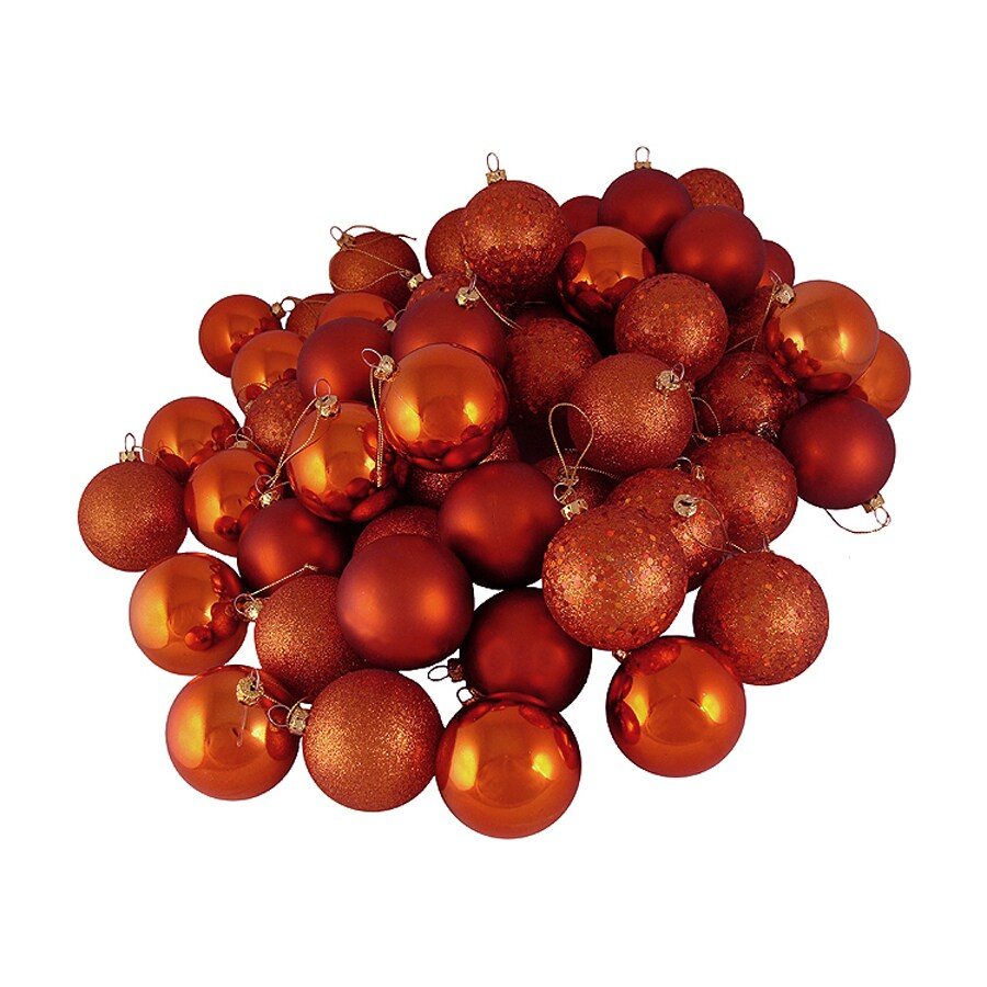 Northlight 25-in Orange Shatterproof Ball Ornaments (Set of 24)