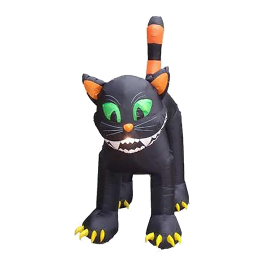 Northlight 11-ft x 9-ft Animated Lighted Black Cat Halloween Inflatable