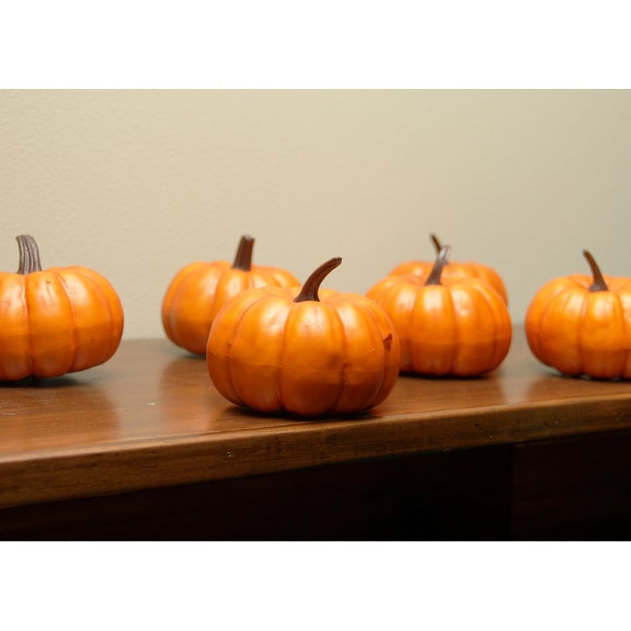 Northlight 6-Piece Foam Pumpkin Figurine Indoor Thanksgiving Decoration